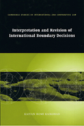 Cover of Interpretation and Revision of International Boundary Decisions