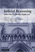 Cover of Judicial Reasoning under the UK Human Rights Act