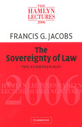 Cover of The Hamlyn Lectures 2006: The Sovereignty of Law - The European Way