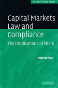 Cover of Capital Markets Law and Compliance: The Implications of MiFID