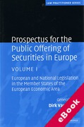 Cover of Prospectus for the Public Offering of Securities in Europe: Volume 1 (eBook)