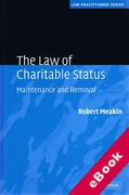 Cover of The Law of Charitable Status: Maintenance and Removal (eBook)