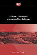 Cover of Religious Liberty and International Law in Europe