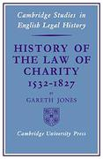Cover of History of the Law of Charity, 1532 -1827