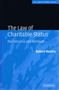 Cover of The Law of Charitable Status: Maintenance and Removal