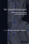 Cover of The Unauthorised Agent: Perspectives from European and Comparative Law