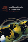 Cover of Legal Principles in WTO Disputes
