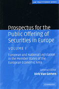 Cover of Prospectus for the Public Offering of Securities in Europe: Volume 1