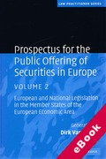 Cover of Prospectus for the Public Offering of Securities in Europe: Volume 2 (eBook)