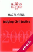 Cover of The Hamlyn Lectures 2008: Judging Civil Justice (eBook)