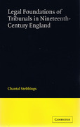 Cover of Legal Foundations of Tribunals in Nineteenth Century England
