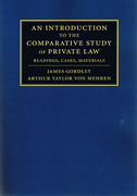 Cover of An Introduction to the Comparative Study of Private Law: Readings, Cases, Materials