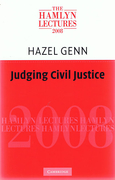 Cover of The Hamlyn Lectures 2008: Judging Civil Justice