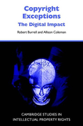 Cover of Copyright Exceptions: The Digital Impact