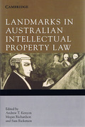 Cover of Landmarks in Australian Intellectual Property Law