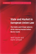 Cover of State and Market in European Union Law
