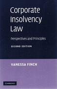 Cover of Corporate Insolvency Law: Perspectives and Principles