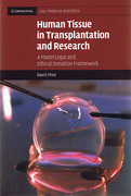 Cover of Human Tissue in Transplantation and Research: A Model Legal and Ethical Donation Framework