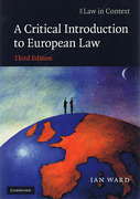 Cover of A Critical Introduction to European Law