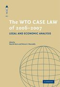 Cover of The WTO Case Law of 2006–7