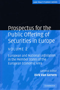 Cover of Prospectus for the Public Offering of Securities in Europe Set: European and National Legislation in the Member States of the European Economic Area