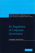 Cover of EC Regulation of Corporate Governance