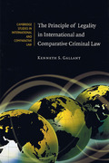 Cover of The Principle of Legality in International and Comparative Criminal Law