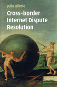 Cover of Cross-Border Internet Disputes Resolution