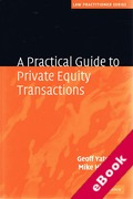 Cover of A Practical Guide to Private Equity Transactions (eBook)