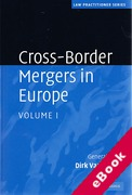 Cover of Cross-Border Mergers in Europe: Volume 1 (eBook)