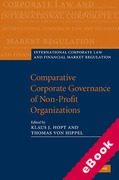 Cover of Comparative Corporate Governance of Non-Profit Organizations (eBook)