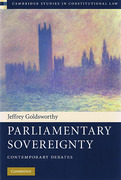 Cover of Parliamentary Sovereignty: Contemporary Debates