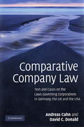 Cover of Comparative Company Law: Text and Cases on the Laws Governing Corporations in Germany