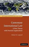 Cover of Customary International Law: A New Theory with Practical Applications
