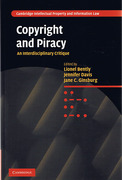 Cover of Copyright and Piracy: An Interdisciplinary Critique