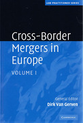 Cover of Cross-Border Mergers in Europe: Volume 1