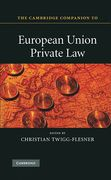 Cover of Cambridge Companion to European Union Private Law