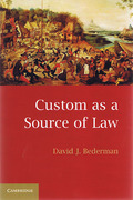 Cover of Custom as a Source of Law