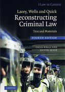 Cover of Law in Context: Lacey, Wells and Quick: Reconstructing Criminal Law: Text and Materials