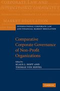 Cover of Comparative Corporate Governance of Non-Profit Organizations