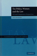 Cover of Tax Policy, Women and the Law: UK and Comparative Perspectives