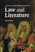 Cover of A Critical Introduction to Law and Literature