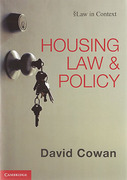 Cover of Law in Context: Housing Law and Policy