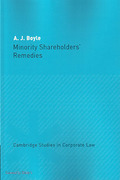 Cover of Minority Shareholders' Remedies