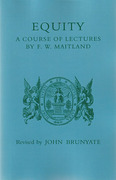 Cover of Equity: A Course of Lectures by F.W. Maitland