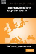 Cover of Precontractual Liability in European Private Law