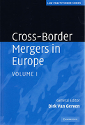 Cover of Cross-Border Mergers in Europe: 2 Volume Hardback Set