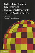 Cover of Boilerplate Clauses, International Commercial Contracts and the Applicable Law: Common Law Contract Models and Commercial Transactions Subject to Civilian Governing Laws