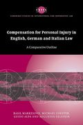 Cover of Compensation for Personal Injury in English, German, and Italian Law