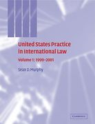 Cover of United States Practice in International Law: Vol 1. 1999-2001